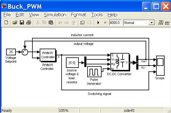 器的simulink仿真,变换方式是buck-boost变换方式